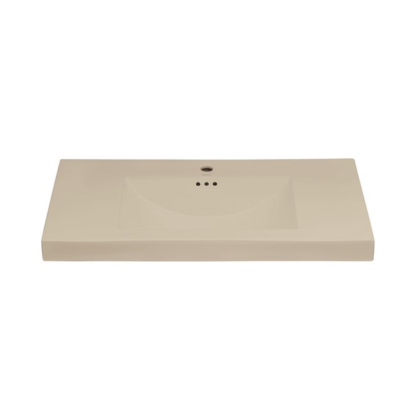 Ronbow Evin 37 Inch Self Rimming Ceramic Bathroom Vessel Sink