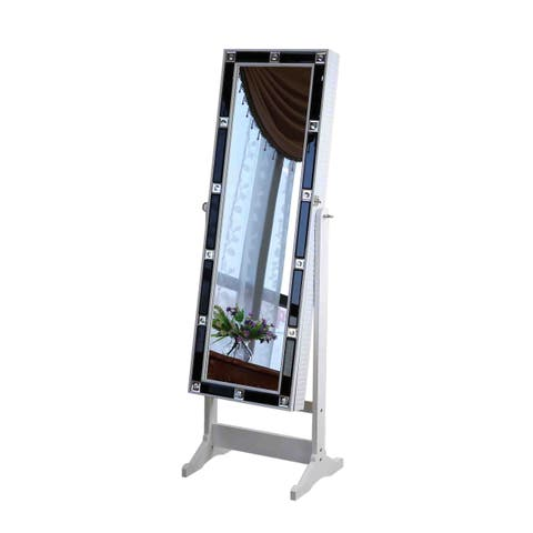 Silver Jewelry Cabinet (58 inches)
