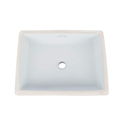 Ronbow Plane 20-inch Ceramic Undermount Bathroom Vessel Sink with Overflow