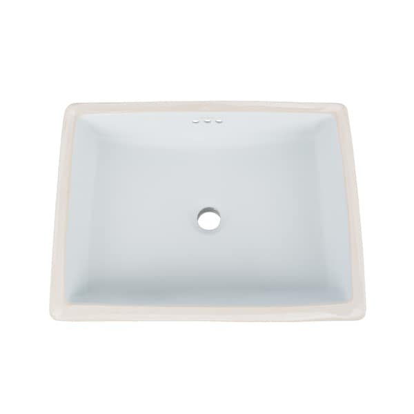Ronbow Plane 20-inch Ceramic Undermount Bathroom Vessel Sink with Overflow. Opens flyout.