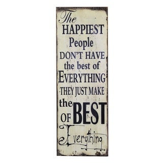 Jeco 12-inch x 35.5-inch Inspirational Wall Plaque