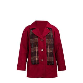 Forecaster Women's Red Wool Single-breasted Plus Size Jacket with Scarf|https://ak1.ostkcdn.com/images/products/14587891/P21133835.jpg?impolicy=medium