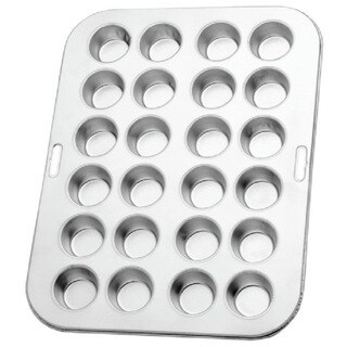 Norpro 3767 Heavy-duty Tin 13.75-inch/35-centimeter Long Mini Muffin Cupcake Pan (Makes 24)