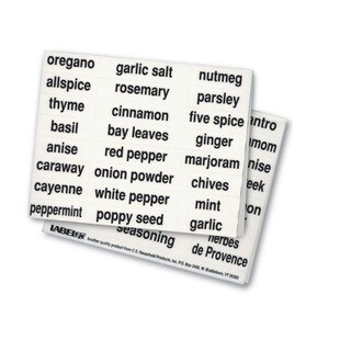 Peel and Apply Kitchen Spice Labels