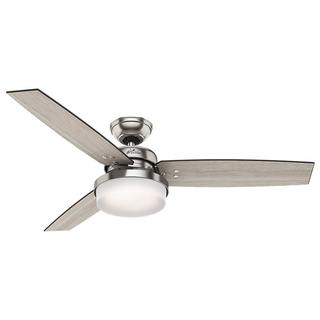 Hunter Fan Sentinel Brushed Nickel 52-inch Ceiling Fan with 3 Reversible Blades