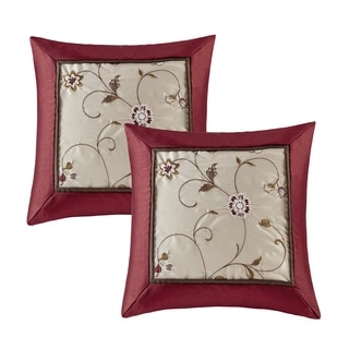 Madison Park Belle Embroidered Pillow Pair