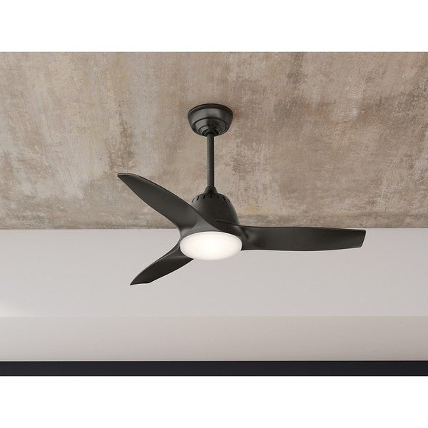 Hunter Summerlin 48 Noble Bronze Ceiling Fan With Light: Casablanca Fan Wisp Noble Bronze 44-inch Ceiling Fan With