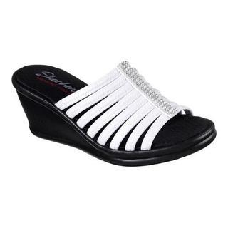 Women's Skechers Rumblers Hotshot Wedge Slide White
