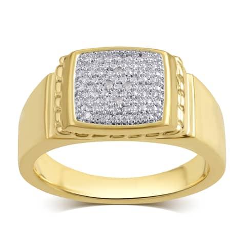 Divina 14K Goldtone Diamond Accent Men's Ring (I-J,I2-I3).