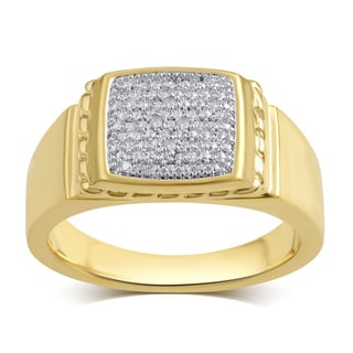 Divina 14K Goldtone Diamond Accent Men's Ring (I-J,I2-I3).