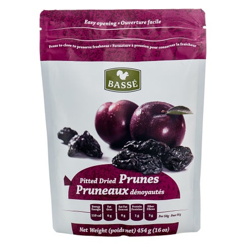 Basse Dried Fruits Pitted Prunes (1-pound Bag)