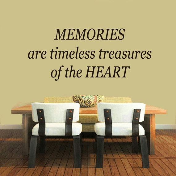 Shop Quote Memories Are Timeless Treasures Of The Heart Vinyl Sticker  Interior Mural Kids Room Sticker Decal Size 22x30 Color Black   Free  Shipping On ...