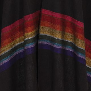 Handmade Acrylic 'Multicolor Midnight' Rebozo Shawl (Mexico)