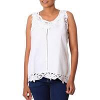 Handmade Linen Cotton Blend 'Summer Bliss' Top (India)