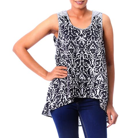 Handmade Cotton 'Newly Ancient' Top (India)
