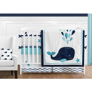 Sweet Jojo Designs Whale Collection 9-piece Crib Bedding Set