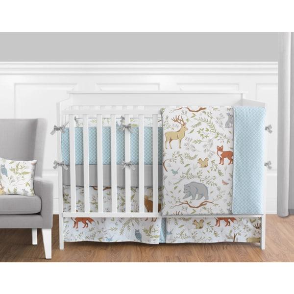 Sweet Jojo Designs Woodland Toile Collection 9-piece Crib Bedding Set