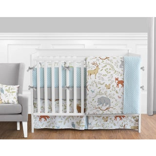 9pc Crib Bedding Set for the Woodland Toile Collection by Sweet Jojo Designs