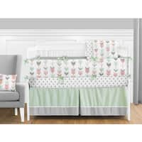 Sweet Jojo Designs Coral and Mint Mod Arrow Collection 9-piece Crib Bedding Set