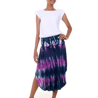 Handmade Rayon Blend 'Twilight Amlapura' Skirt (Indonesia)