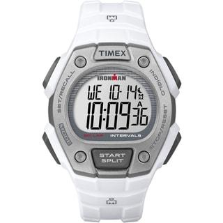 Timex Men's TW5K88100 Ironman Classic 50 Full-Size White/Gray Resin Strap Watch