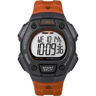 Timex Men's TW5K86200 Ironman Classic 50 Orange/Gray Resin Strap Full-size Watch