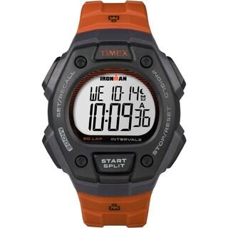 Timex Men's TW5K86200 Ironman Classic 50 Orange/Gray Resin Strap Full-size Watch