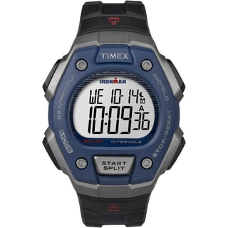Timex Men's TW5K86000 Ironman Classic 50 Full-size Black/Gray/Blue Resin Strap Watch