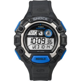 Timex Men's Expedition Global Shock Black/Blue Resin Watch