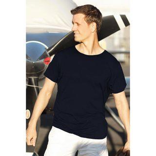 Handmade Men's Cotton 'Dark Blue Kuta Breeze' Founder's T-shirt (Indonesia)