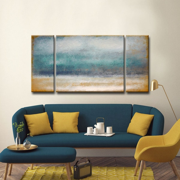 shop ready2hangart norman wyatt jr 39 tempest 39 30 x 60 inch 3 piece wall art set on sale free. Black Bedroom Furniture Sets. Home Design Ideas