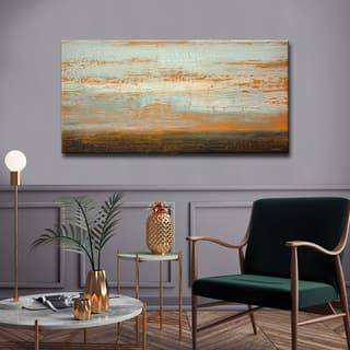 Desert Flats' by Norman Wyatt, Jr. Abstract Wrapped Canvas Wall Art