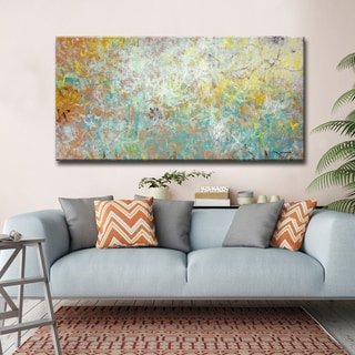 Uplifted' by Norman Wyatt, Jr. Abstract Wrapped Canvas Wall Art
