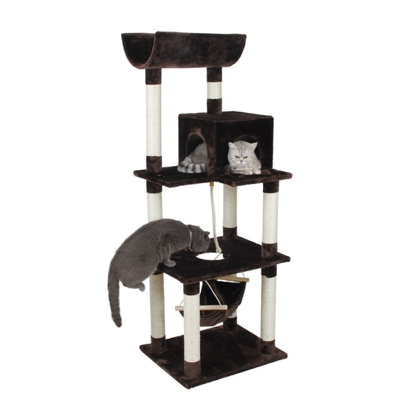 63 Inch Condo Tower Playset Cat Tree Free Shipping Today 14593108