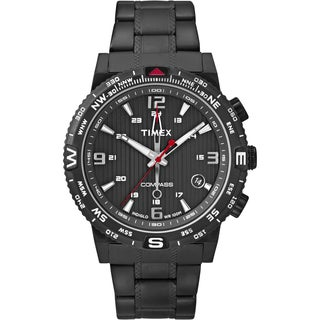 Timex Men's T2P288 Intelligent Quartz Compass Black Stainless Steel Bracelet Watch