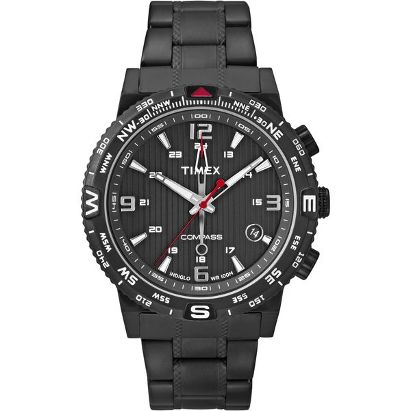 Shop Timex Men's T2P288 Intelligent Quartz Compass Black ...