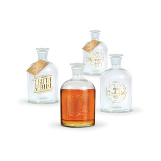 Fred and Friends Gold Foil Decanters