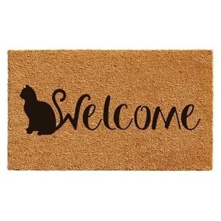 Feline Welcome Doormat|https://ak1.ostkcdn.com/images/products/14593163/P21138399.jpg?impolicy=medium