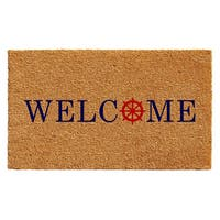 Ships Wheel Welcome Doormat