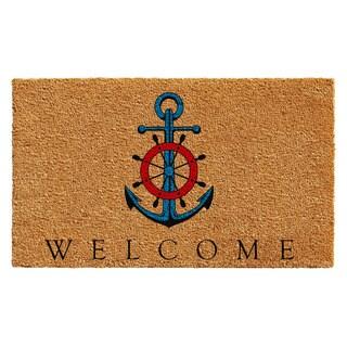 Ships Anchor Welcome Doormat