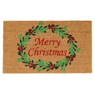 Christmas Wreath Doormat