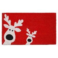 Peeking Reindeer Doormat