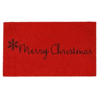 Red Merry Christmas Doormat