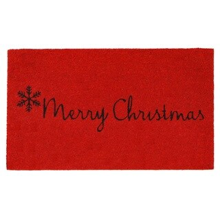 Red Merry Christmas Doormat
