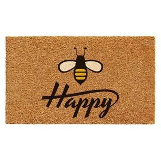 Bee Happy Doormat|https://ak1.ostkcdn.com/images/products/14593187/P21138420.jpg?impolicy=medium