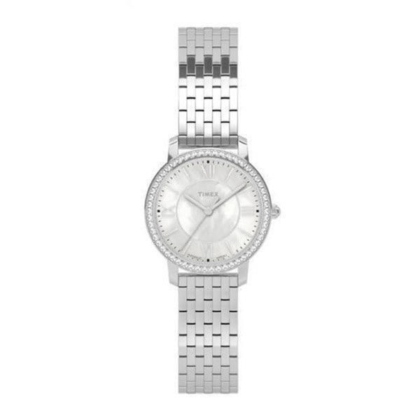 Timex Women's TW2P80500 Ashland Road Silvertone Stainless Steel Bracelet Watch - silver