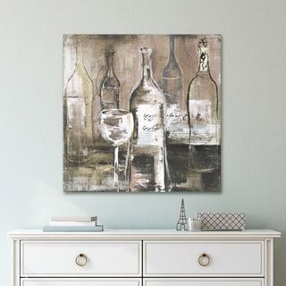 Portfolio 'Wine Cellar II Grey' by Bridges Wrapped Canvas Wall Art