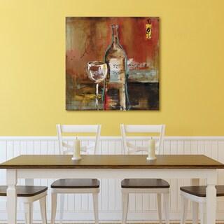 Portfolio 'Wine Cellar I' by Bridges Wrapped Canvas Wall Art