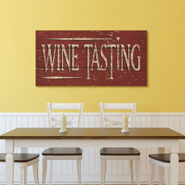 Portfolio \'Vintage Signs - Wine Tasting I\' by IHD Wrapped Canvas ...