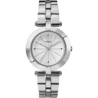 Timex Women's TW2P79100 Greenwich Silvertone Stainless Steel Bracelet Watch